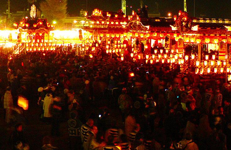 「日本三大曳山祭」に数えられる「秩父夜祭」