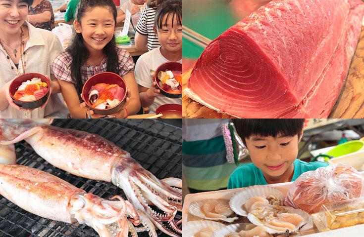 海産物を自由に買ってオリジナルの海鮮丼を作るマイ海鮮丼