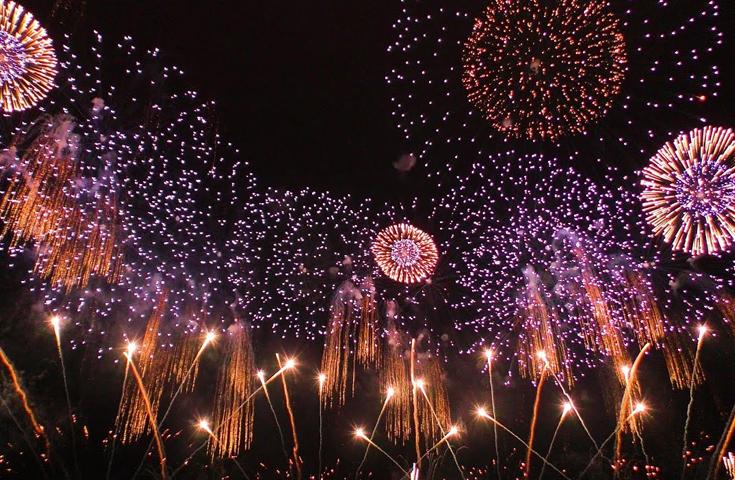 現地に着いたら各自自由に花火大会をお楽しみください。