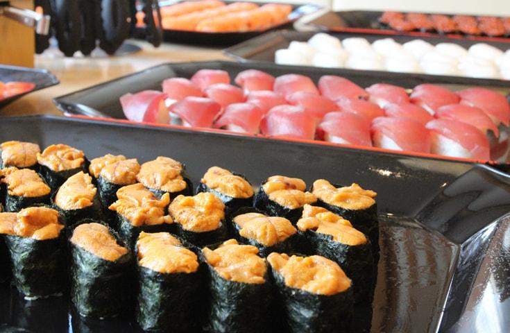 豪華ネタの厳選お寿司が50分食べ放題