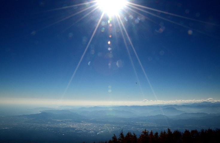 富士山五合目から見渡す絶景(晴天時)