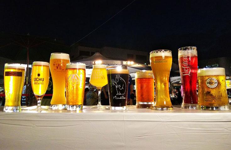 総計50種類の個性豊かな地ビールを楽しむことができます