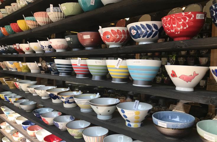 旧軽井沢には、和を感じるかわいいショップも