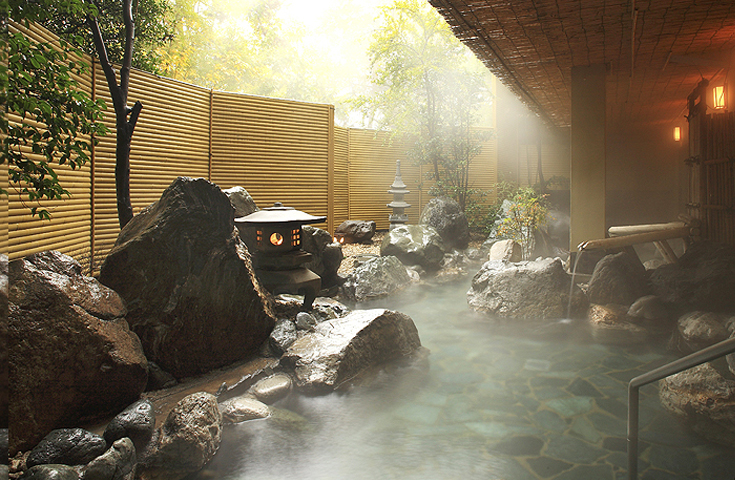 自家源泉かけ流しの温泉で美肌の湯を堪能