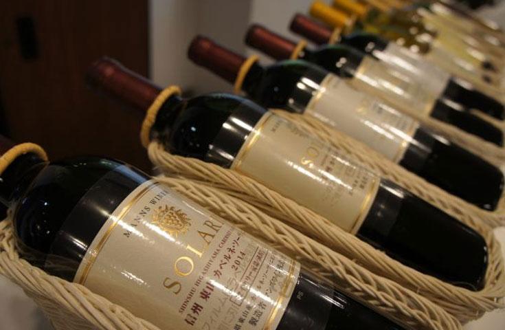国賓級のワイン「ソラリス」も試飲できます(有料)
