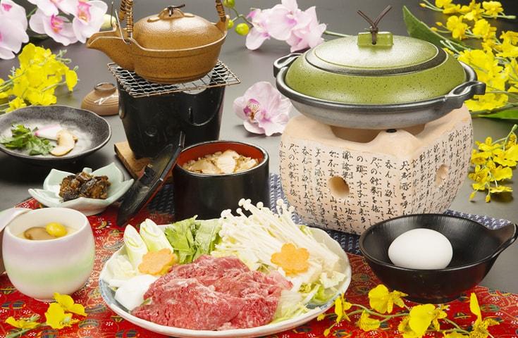 秋の味覚「松茸すき焼き御膳」