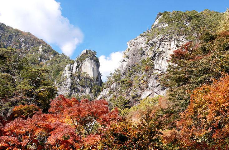 紅葉の昇仙峡