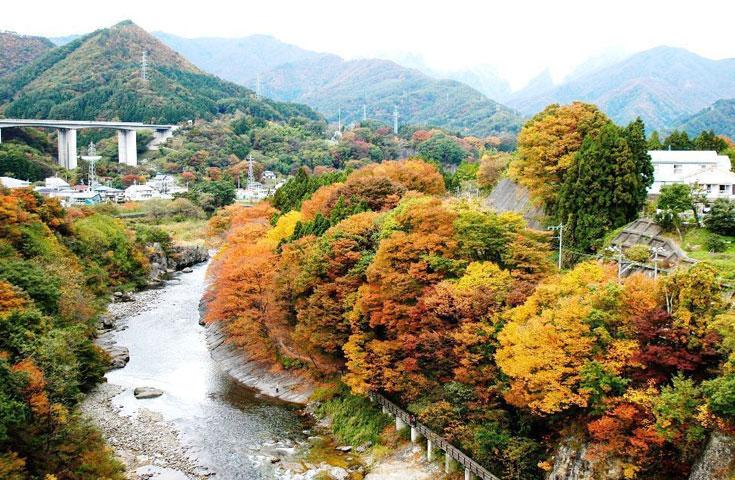 紅葉彩る景勝地「諏訪峡」を散策