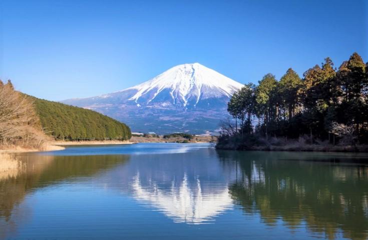 田貫湖から望む絶景の富士山