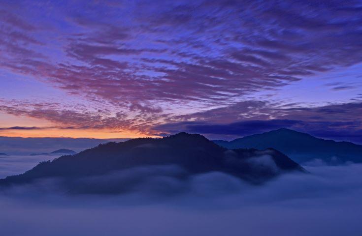 立雲峡から見た竹田城