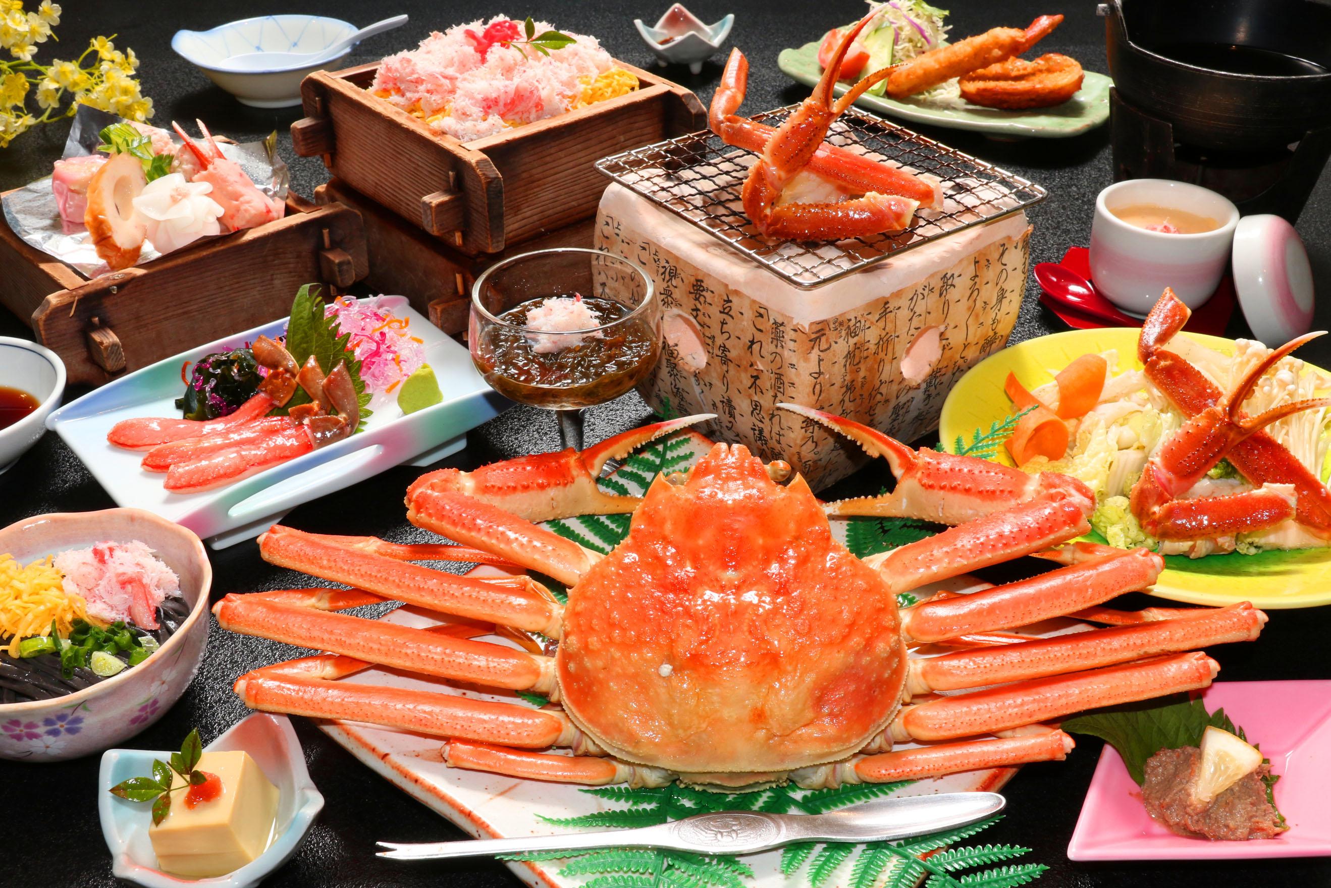 日本海の海の幸蟹約4杯フルコース!