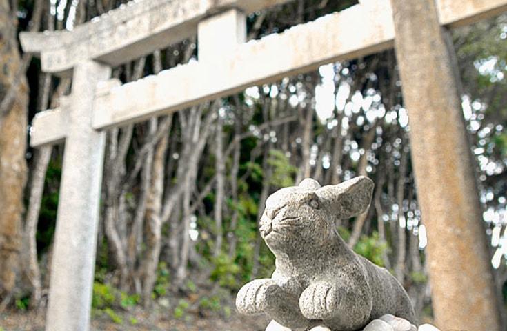 白兎神がまつられる白兎神社