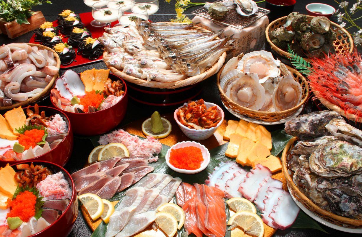 10種類食べ放題♪海の幸に舌鼓