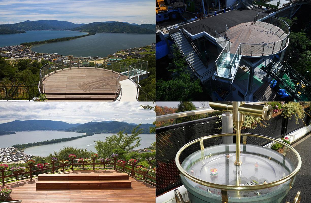 天橋立傘松公園では「股のぞき」で「天上世界」を体験!