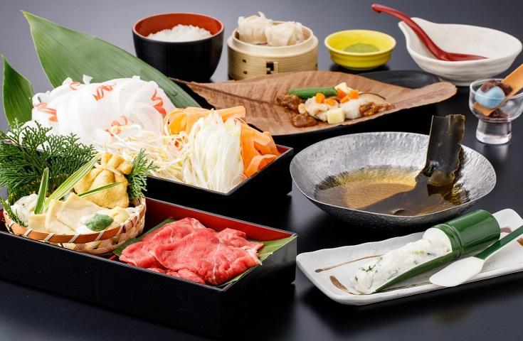 京野菜と牛肉のしゃぶしゃぶ膳