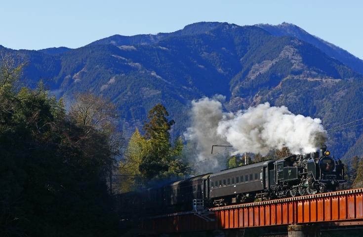 懐かしの蒸気機関車の車窓から眺める最高の景観!