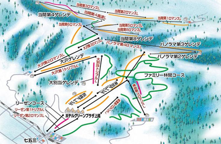上越国際スキー場ゲレンデMAP