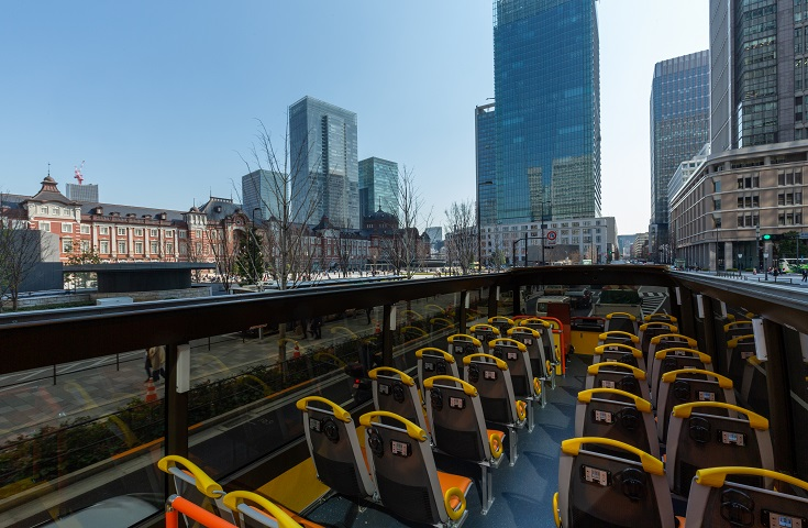 オープントップバスから見た東京