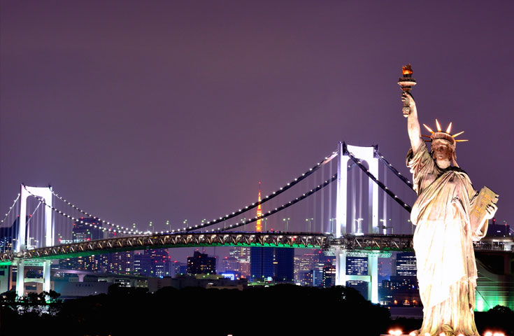 [VIP view Tour] ベイコース 【18:20発】オープントップで壮快!東京見学<GPS付自動音声ガイドシステム搭載>
