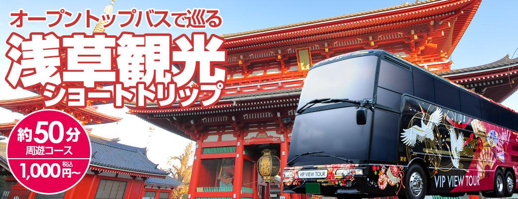 オープントップバスで行く!ぶらり下町散歩 浅草・スカイツリー・両国ショートトリップ